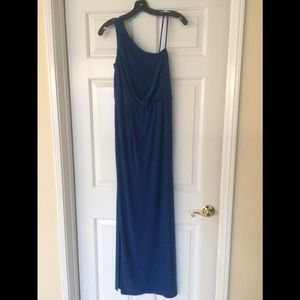 Adrianna Papell One Shoulder Blue Dress Size 6