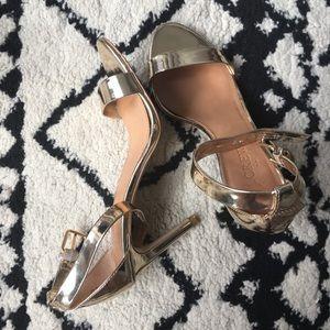 J.Crew Gold High Heeled Sandals, sz 5.5