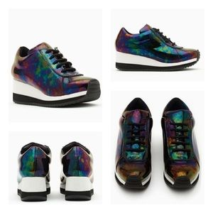 Jeffrey Campbell Gump Trainers- oil slick