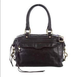 Rebecca Minkoff MAB Black leather satchel