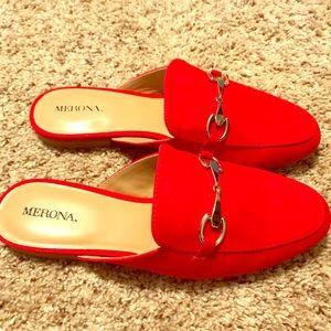 "Merona ""Kona"" Red Slides"