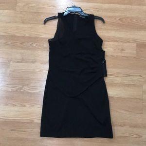 Armani Exchange stretch mini black dress
