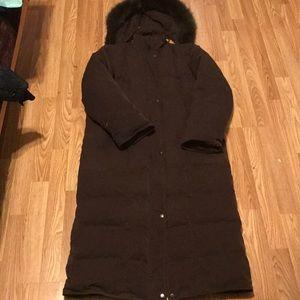 Womens London Fog Long Puffer Jacket