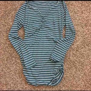 Motherhood Maternity Striped Long Sleeve