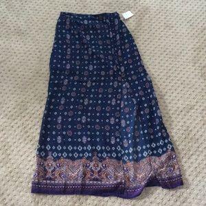 Brand new maxi skirt with slit