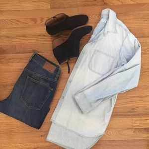 Madewell Blue Chambray button down top