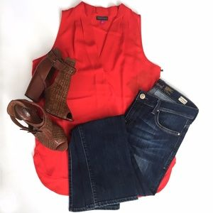 "Vince Camuto""Red Hot""  Sleeveless Blouse"