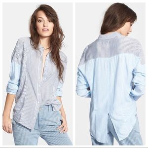 Free People Chambray Blue Combo XS