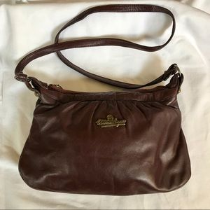 Vintage Burgundy Leather Purse
