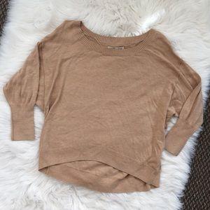 Tops - NWT Nude/Tan Boat Neck Sweatshirt Batwing Sleeve M