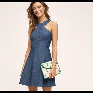 Anthropologie Dresses - Anthropologie Denim Halter Dress