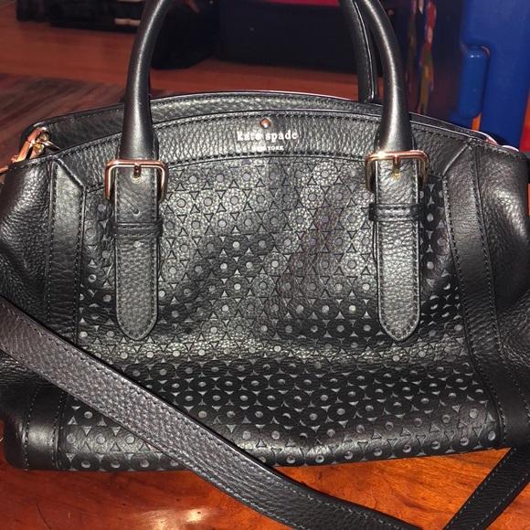04acafbf70 kate spade Handbags - Kate Spade black leather eyelet satchel