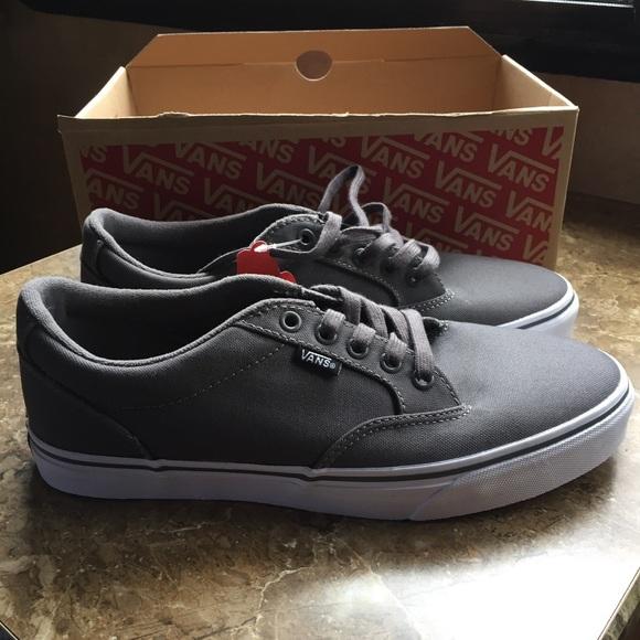 6ce8e66abe Men s Vans Winston Skate shoes gray sneakers