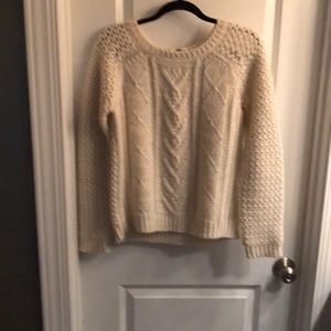 Cream Wool Blend Sweater
