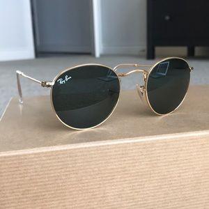 Brand New Ray Ban Round Metal Sunglasses, 47mm