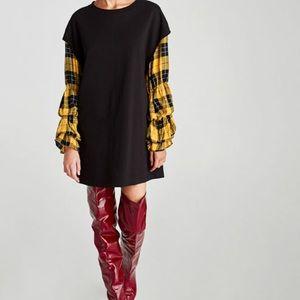 Checkered Combination Dress