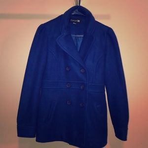Cute royal blue trench coat
