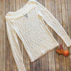 Wet seal sweater, white, medium