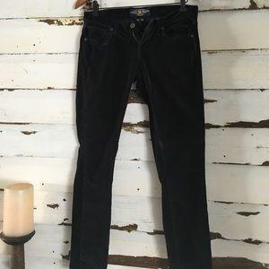 Black Velvet Skinny Pants