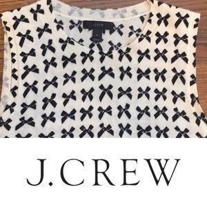 J. Crew Jackie Shell - bow print