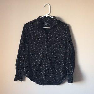 Madewell shrunken ex-bf shirt in crescent moon