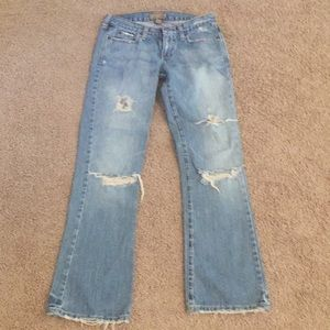 Abercrombie & Fitch distressed bootcut 2R