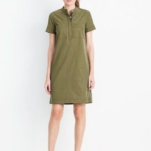 J. Crew Olive / Army Green Mandarin Collar Dress