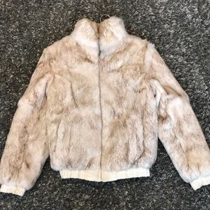 Jackets & Blazers - 100% Authentic Rabbit Fur Bombers Jacket