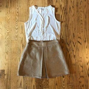Banana Republic gold skirt size 10