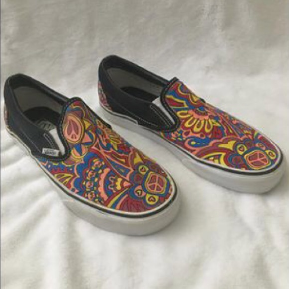 vans shoes graphic slip on sneaker poshmark