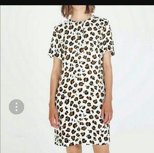 Zara leopard print shift dress