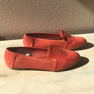 Never Worn faux suede Mossimo flats - orange