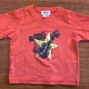 6-12 m orange rock t shirt for baby, Zutano