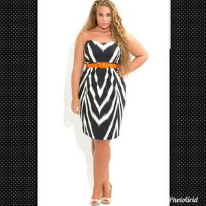 BNWT CITY CHIC ANIMAL HOURGLASS DRESS