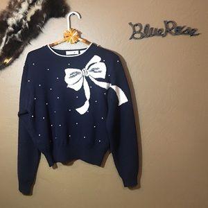 Vintage Liz Claiborne bow sweater