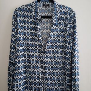 Jones New York NWOT geometric print shirt
