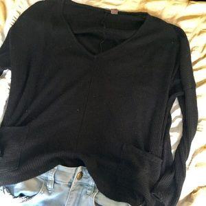 Flowy loose double pocket sweater / BDG