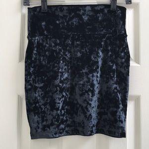 Black Velvet Mini Skirt Forever 21 size M