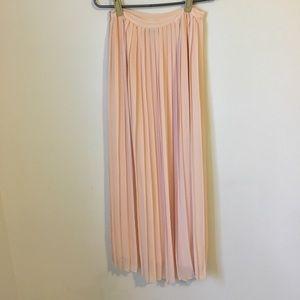 Blush Accordion Skirt