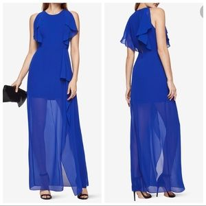 Chiffon royal blue gown Sz 4
