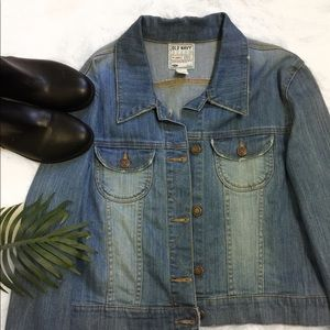Old Navy blue jean jacket