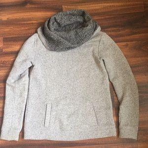 J.Crew Grey Cowl Neck Sweatshirt/Sweater