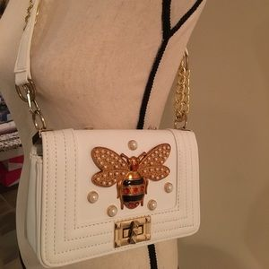 Handbags - White Bee shoulder handbag