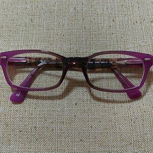 Purple ombre RayBan glasses
