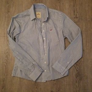 Women's Hollister striped button down top