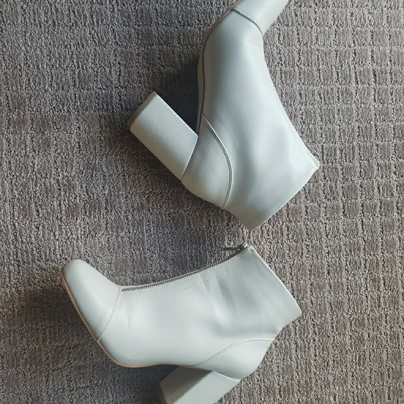 ASOS Shoes | White Ankle Boots Asos