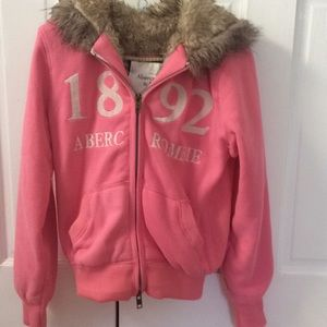 Abercrombie and Fitch fur lined hoodie