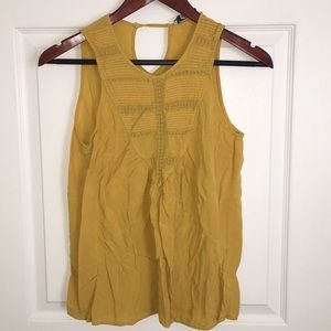 Forever  21 yellow tank top sz S
