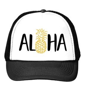 2461dc8a0 Surfer Girl • Mesh Trucker Hat Aloha Pineapple OS Boutique
