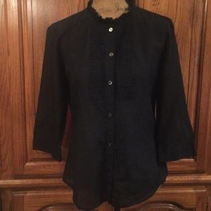 Banana Republic Black 3/4 Sleeve Shirt